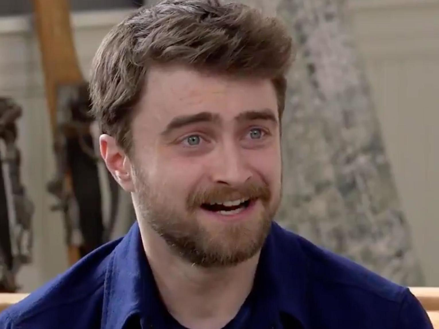 4fbabb2915608 Daniel Radcliffe takes a swipe at NFL star Tom Brady ahead of Super Bowl    Take that MAGA hat out of your locker