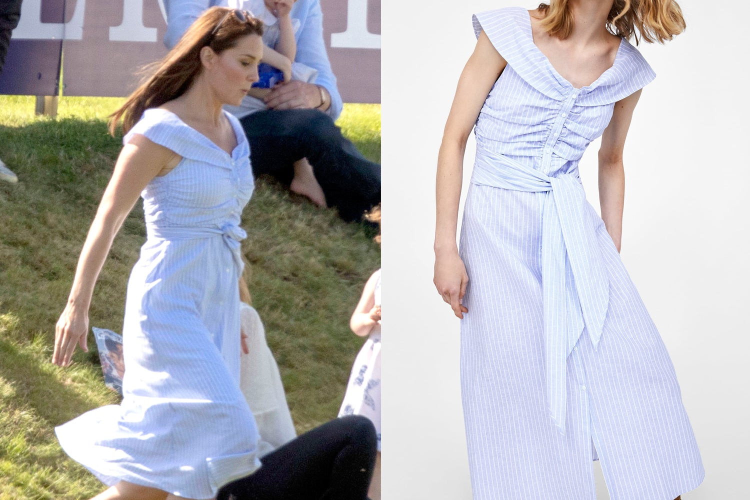 7e1648559f4 Kate Middleton dons perfect £39.99 summer dress from Zara